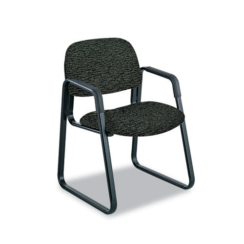 Safco Cava Urth Series Sled Base Guest Chair SAF7047BL, Black (UPC:073555704723)