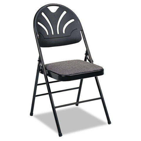 Cosco Fanfare Fabric Padded Seat & Deluxe Molded Back Folding Chair CSC36875KNB4,  (UPC:044681360930)