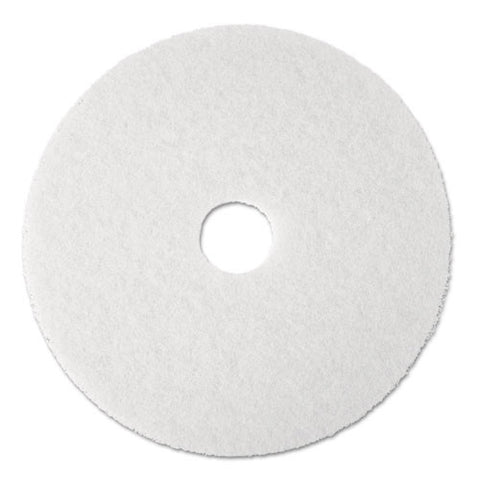 3M White Super Polish Pad 4100 ; (048011084848); Color:White