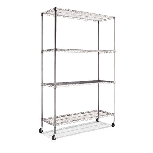 Alera Commercial Wire Shelving Kit with Casters ALESW604818BA,  (UPC:042167924478)