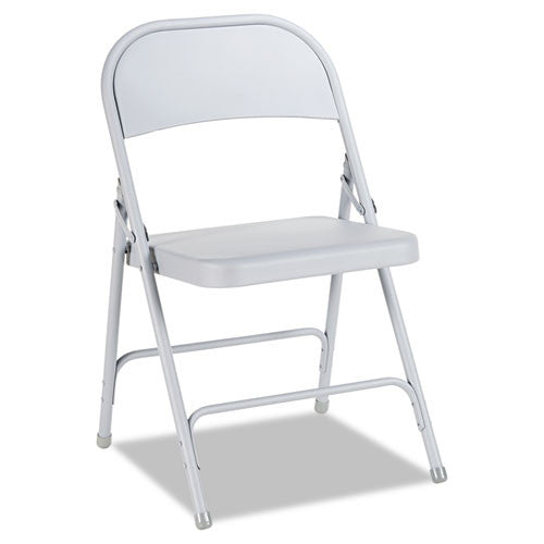 Alera Steel Folding Chair with Two-Brace Support ALEFC94LG,  (UPC:042167960124)