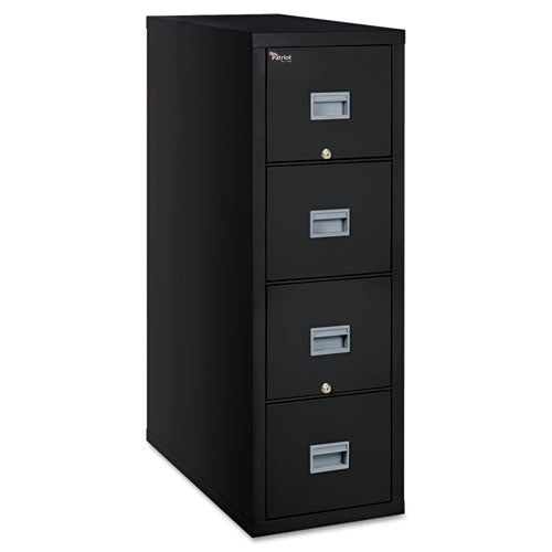 FireKing Patriot Series 4-Dr Vertical Fire Files FIR4P2131CBL, Black (UPC:033983078643)