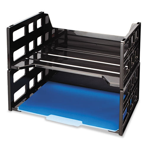 Officemate High-Capacity Letter Desk Tray OIC26056, Black (UPC:042491260563)