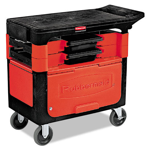 Rubbermaid Commercial Trades Cart RCP618088BLA,  (UPC:086876184426)