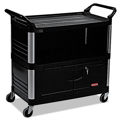 Rubbermaid Commercial Xtra Equipment Cart RCP4095BLA,  (UPC:086876153750)