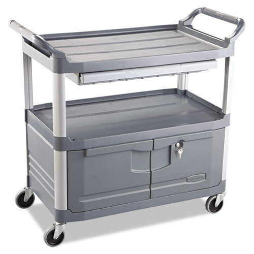 Rubbermaid Commercial Xtra Instrument Cart RCP4094GRA,  (UPC:086876145069)