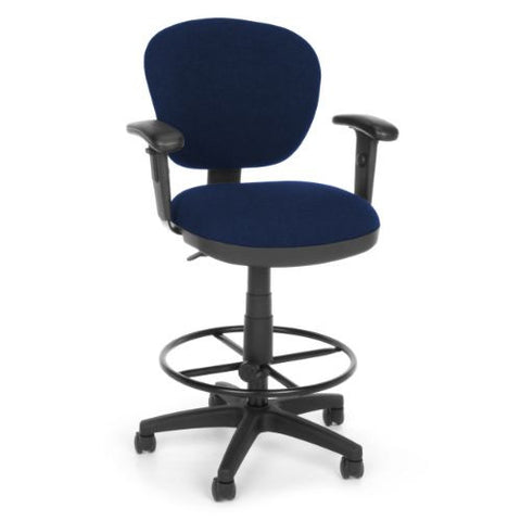 OFM Lite Use Computer Task Stool with Arms and Drafting Kit ; UPC: 845123011843