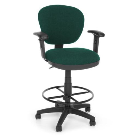 OFM Lite Use Computer Task Stool with Arms and Drafting Kit ; UPC: 845123011850