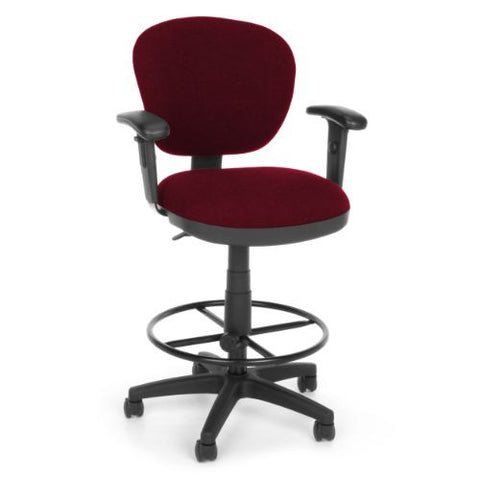 OFM Lite Use Computer Task Stool with Arms and Drafting Kit ; UPC: 845123011867