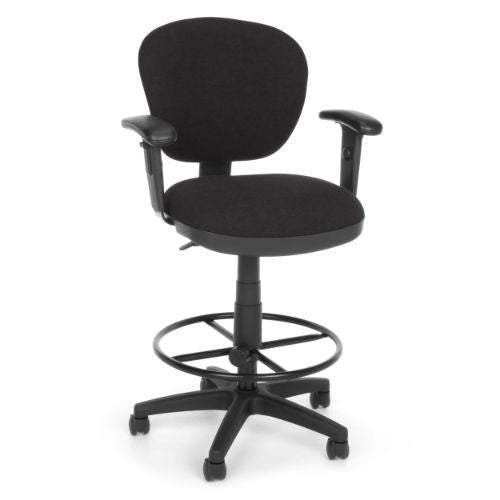 Peachy Ofm Lite Use Drafting Stool With Arms In Black Gmtry Best Dining Table And Chair Ideas Images Gmtryco