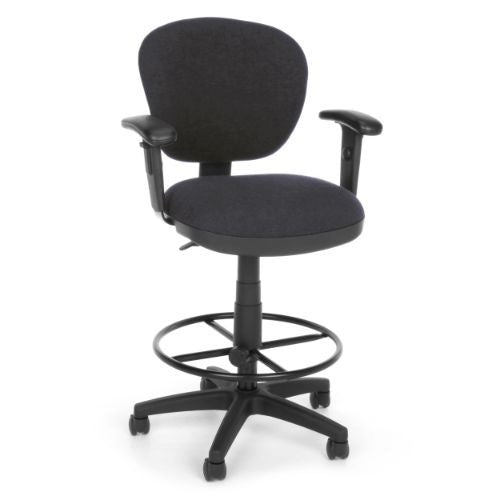 OFM Lite Use Computer Task Stool with Arms and Drafting Kit ; UPC: 845123011881