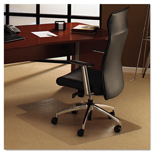 Floortex Deep Pile Carpet Chair Mat FLR1113427LR, Clear (UPC:874951001078)