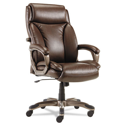 Alera Veon Series Executive High-Back Leather Chair ALEVN4159,  (UPC:042167392277)