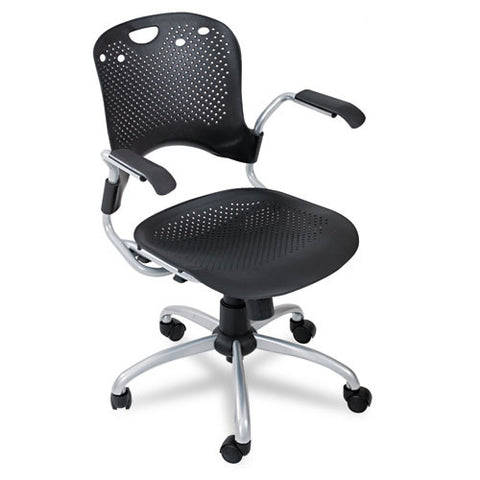 MooreCo Circulation Task Chair BLT34552, Black (UPC:717641345529)
