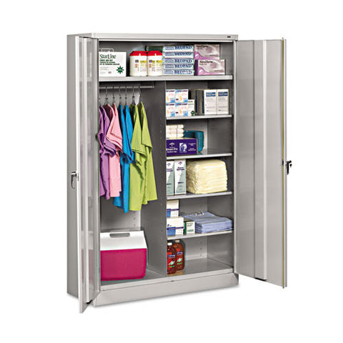 Tennsco Assembled Jumbo Combination Storage Cabinet TNNJ2478SUCLGY,  (UPC:044767129574)