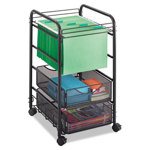 Safco Onyx Mesh Open File with Drawers SAF5215BL, Black (UPC:073555521528)
