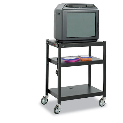 Safco Adjustable Height A/V Cart SAF8932BL, Black (UPC:073555893229)