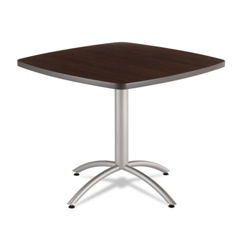 "Iceberg CafeWorks 36"" Square Cafe Table ICE65614, Walnut (UPC:674785656143)"
