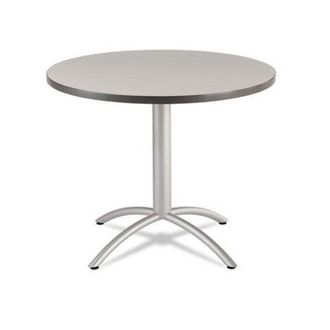 "Iceberg CafeWorks 36"" Round Cafe Table ICE65621, Gray (UPC:674785656273)"