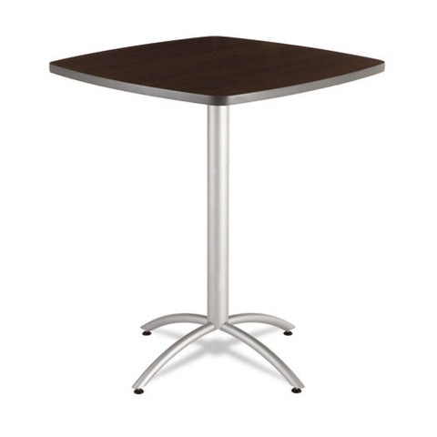 "Iceberg CafeWorks 36"" Square Bistro Table ICE65634, Walnut (UPC:674785656341)"