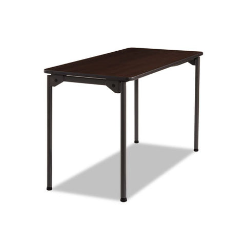 Iceberg Maxx Legroom Wood Folding Table ICE65804, Walnut (UPC:674785658048)