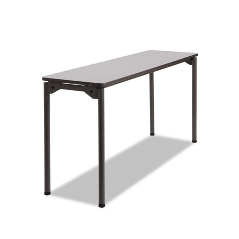 Iceberg Maxx Legroom Wood Folding Table ICE65877, Gray (UPC:674785658772)