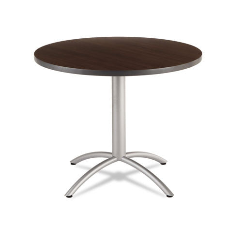 "Iceberg CafeWorks 36"" Round Cafe Table ICE65624, Walnut (UPC:674785656242)"