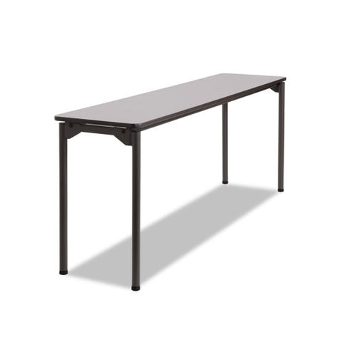 Iceberg Maxx Legroom Wood Folding Table ICE65887, Gray (UPC:674785658871)