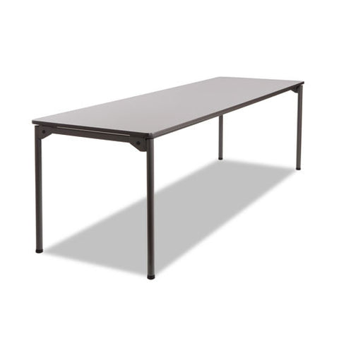 Iceberg Maxx Legroom Wood Folding Table ICE65837, Gray (UPC:674785658376)