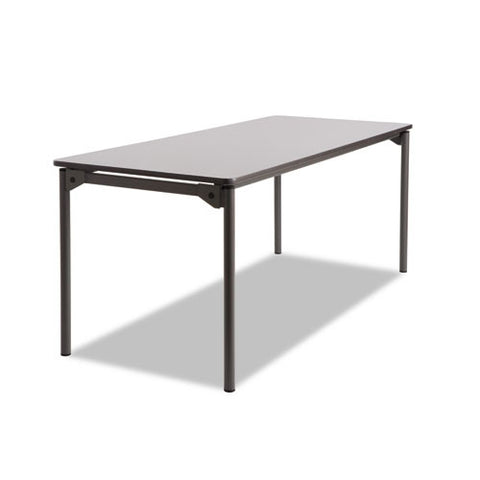Iceberg Maxx Legroom Wood Folding Table ICE65827, Gray (UPC:674785658277)