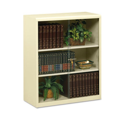 Tennsco Heavy-gauge Steel Bookcase With Glass Doors TNN342GLPY,  (UPC:044767120083)