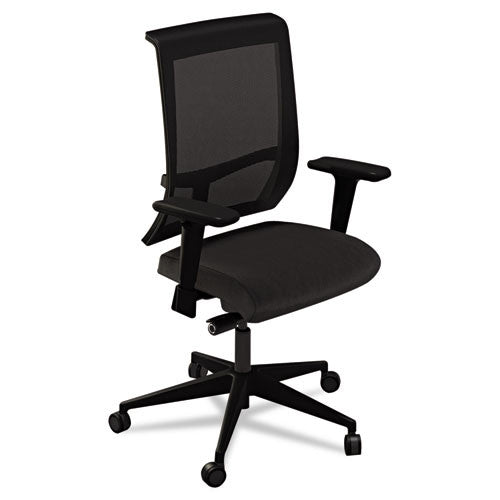 Mayline Commute Series Mesh Back Task Chair MLNC1BB2OJT, Black (UPC:760771280932)