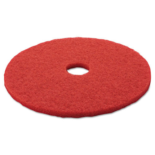 3M Red Buffer Pad 5100 ; (048011083957); Color:Red