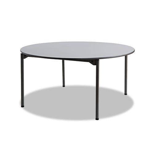 Iceberg Maxx Legroom Wood Round Folding Table ICE65867,  (UPC:674785658673)