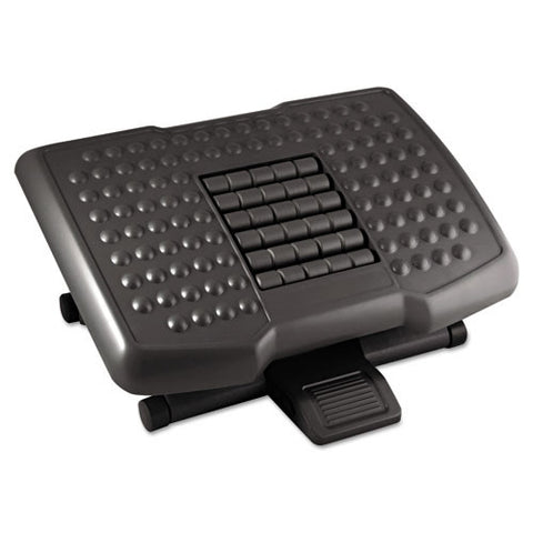 Kantek Premium Ergonomic Footrest with Rollers KTKFR750, Black (UPC:750333607505)