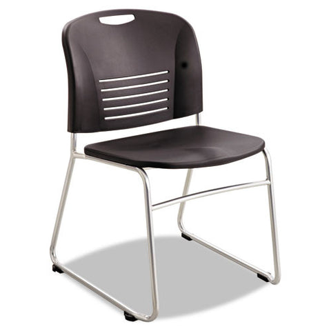 Safco Vy Sled Base Stack Chairs SAF4292BL, Black (UPC:073555429220)