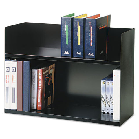 MMF 2-Tier Book Rack MMF26423BRBK, Black (UPC:079946013702)