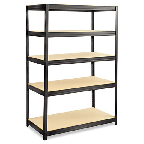 Safco Boltless Steel/Particlebrd Shelving Unit SAF6244BL, Black (UPC:073555624427)