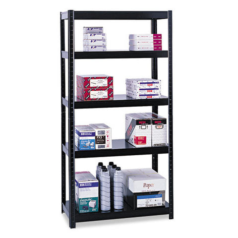 "Safco 36"" Wide 24"" Deep Boltless Shelving SAF5247BL, Black (UPC:073555524727)"
