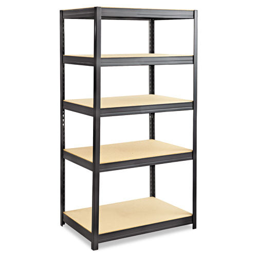 Safco Heavy-duty Boltless Steel Shelving Unit SAF6247BL, Black (UPC:073555624724)