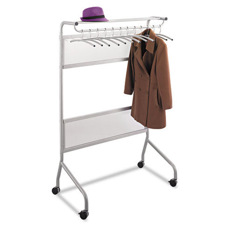 Safco Impromptu Steel Frame Garment Rack ; (073555460131); Color:Silver