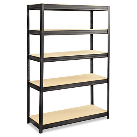 Safco Heavy-duty Boltless Steel Shelving Unit SAF6246BL, Black (UPC:073555624625)