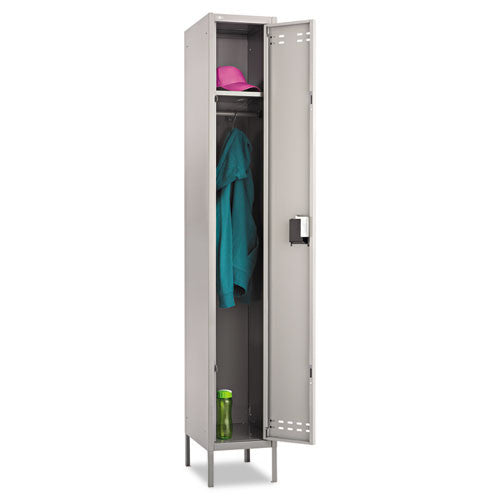 Safco Single-Tier Two-tone Locker with Legs SAF5522GR, Gray (UPC:073555552201)
