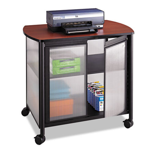 Safco Impromptu Deluxe Machine Stand with Door SAF1859BL, Black (UPC:073555185928)