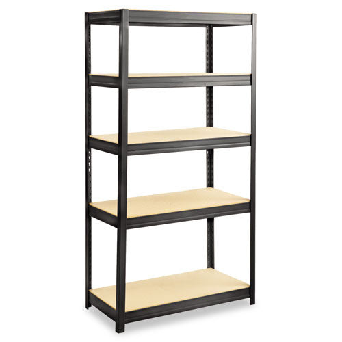 Safco Heavy-duty Boltless Steel Shelving Unit SAF6245BL, Black (UPC:073555624526)