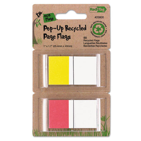 Redi-Tag Recycled Flag RTG25800,  (UPC:012534258000)