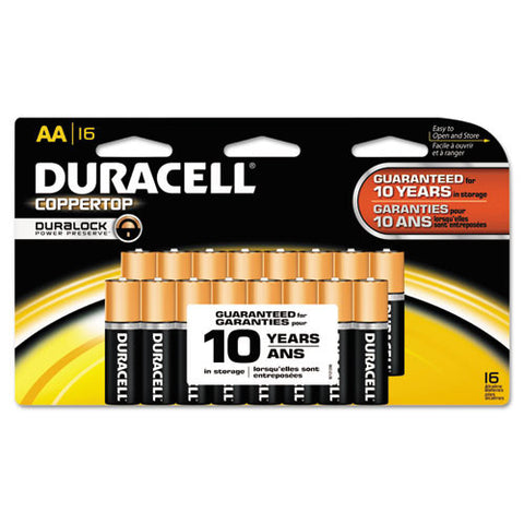 Duracell CopperTop Alkaline AA Batteries ; (041333929484)