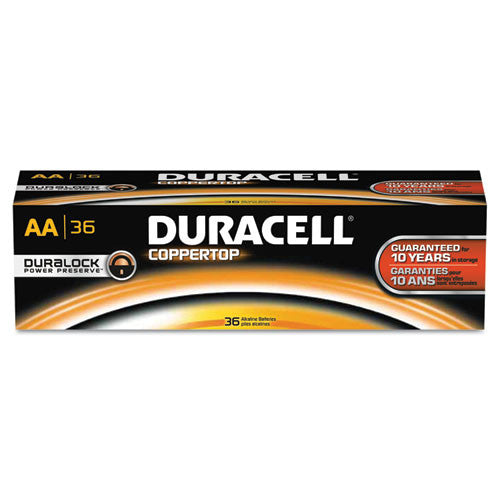 Duracell CopperTop Alkaline AA Batteries ; (041333658797)