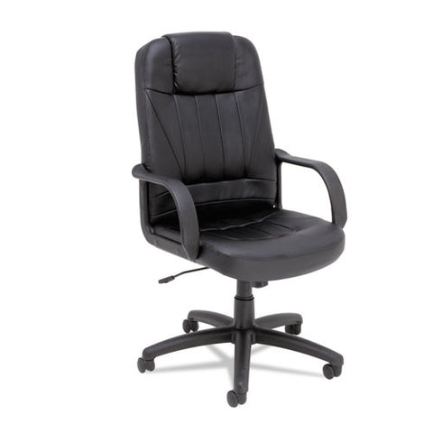 Alera Sparis Executive High-Back Swivel/Tilt Leather Chair ALESP41LS10B,  (UPC:042167381127)