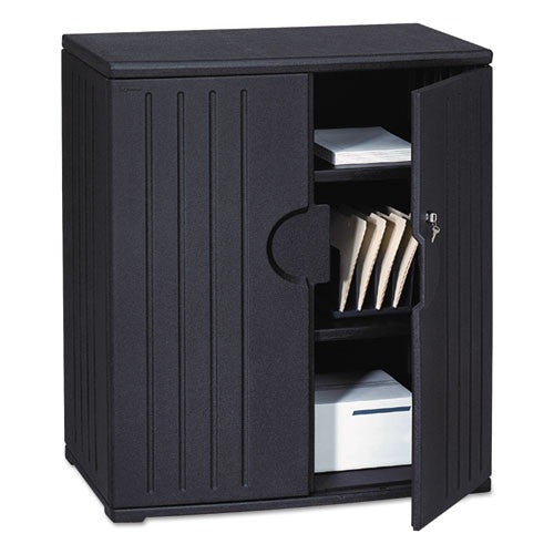 Iceberg Officeworks 2-Shelf Storage Cabinet ICE92561, Black (UPC:674785925614)